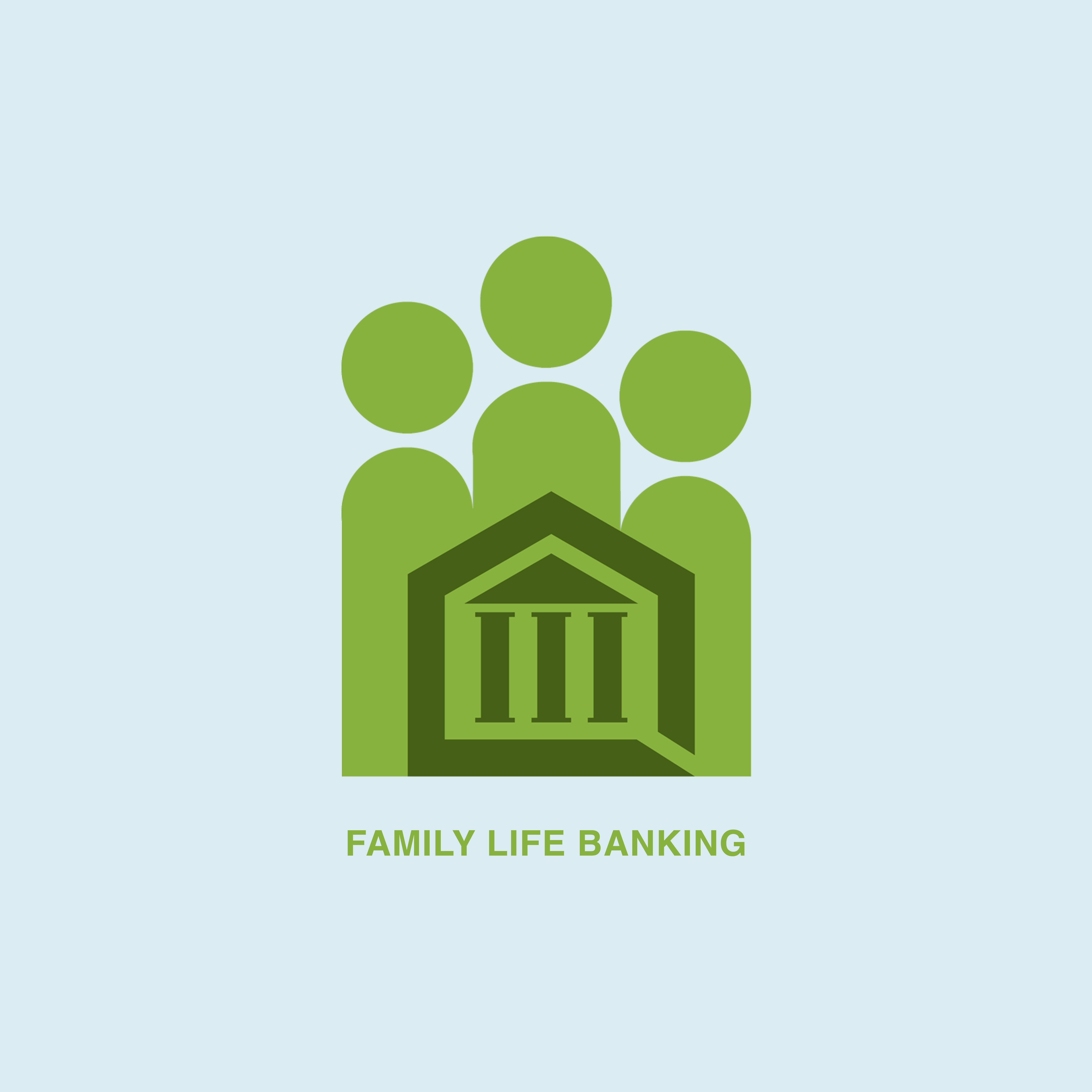 Family Life Banking Logo Design - PIC2MOTION