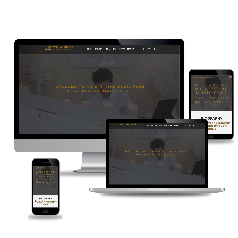 Web design for kavehpiano.com- PIC2MOTION