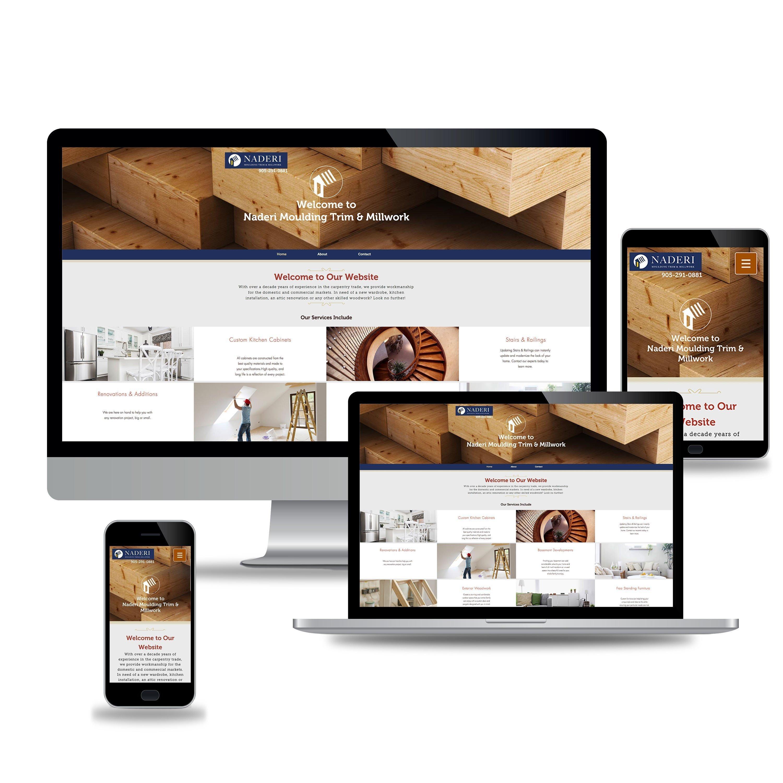 Naderi Moulding Trim & Millwork Web Design